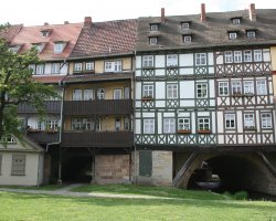 Amazing Holiday, Erfurt, Germany, Kramerbrucke front view