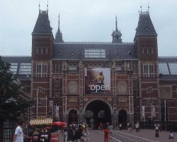 Museum Holiday, Rijksmuseum, Amsterdam, The Netherlands, Entrance view