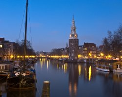 Amsterdam, The Netherlands, Europe, City view at morning