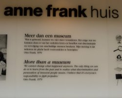 Anne Frank Museum, Amsterdam, Sign quoting Otto Frank