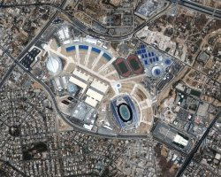 Athens, Greece, Olympic complex aerial view