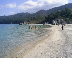 Halkidiki, Greece, Fava beach