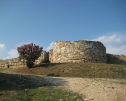 Stagira, Greece, Ruin fortress wall