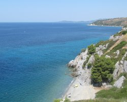 Halkidiki, Greece, Peninsula coast to the sea