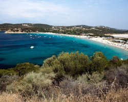 Ammouliani, Greece, Golden beach panorama