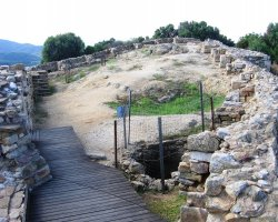 Arhaia Stageira, Greece, Archaeological sites close view