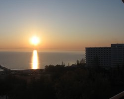 Kassandra, Greece, Sunrise over the peninsula