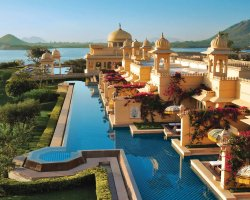 Attractive Floating Hotels, Udaipur, India, Oberoi Udaivilas view