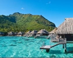 Attractive Floating Hotels, Bora Bora, French Polynesia, Lagoon Resort Spa