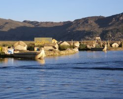 Trend Destination Holiday, Peru, South America, Reed houses and boats