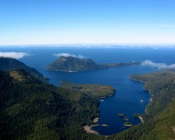 Trend Destination Holiday, Haida Gwaii, British Columbia, Canada, Aerial view