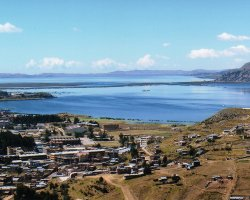 Trend Destination Holiday, Peru, South America, Lake Titicaca panorama