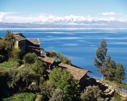 Trend Destination Holiday, Peru, South America, Lake Titicaca overall view
