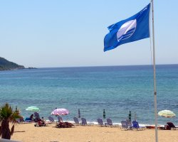 Beaches in Corfu, Corfu, Greece, Agios Georgios Pagi blue flag