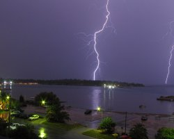Beaches in Corfu, Corfu, Greece, Glyfada double lightnings
