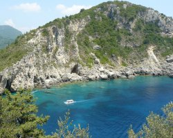 Beaches in Corfu, Corfu, Greece, Paleokastrita view