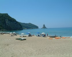 Beaches in Corfu, Corfu, Greece, Agios Gordios sunny day