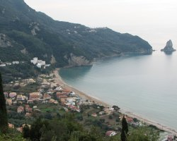 Beaches in Corfu, Corfu, Greece, Agios Gordios upview
