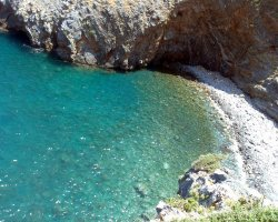 Beaches in Corfu, Corfu, Greece, Glyfada remote beach
