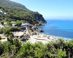 Beaches in Corfu, Corfu, Greece, Ermones beach access