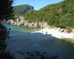 Beaches in Corfu, Corfu, Greece, Paleokastrita remote beach