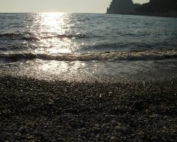 Beaches in Corfu, Corfu, Greece, Glyfada gravel beach