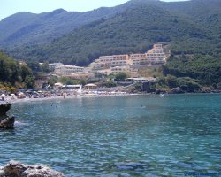 Beaches in Corfu, Corfu, Greece, Ermones resort view