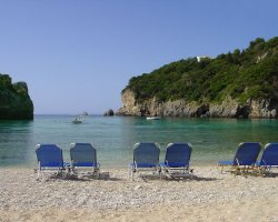 Beaches in Corfu, Corfu, Greece, Paleokastrita overview