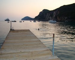 Beaches in Corfu, Corfu, Greece, Liapades pontoon