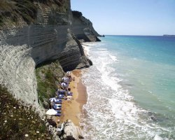Beaches in Corfu, Corfu, Greece, Logas costal overview