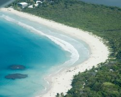 Beautiful Beaches, Puerto Rico, Flamenco Beach, View from above