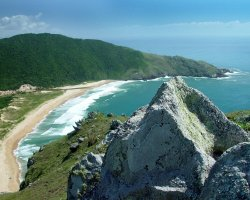 Beautiful Beaches, Brazil, Bahia does Sancho, Remote beach overview