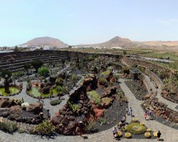 Beautiful Garden Holiday, Cactus Garden, Spain, Panoramic view