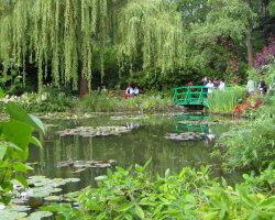 Beautiful Garden Holiday, Monets Gardens, France, Lake scenery