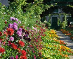 Beautiful Garden Holiday, Monets Gardens, France, Colorful scenery