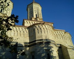 Beautiful Monastery, Three Hierarchs, Romania, Outside view architecture
