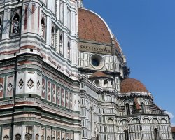 Beautiful sights Florence, Italy, Il Duomo exterior close view
