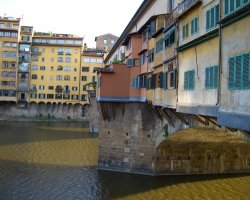 Beautiful sights Florence, Italy, Ponte Vecchio side view