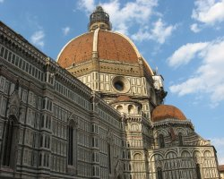 Beautiful sights Florence, Italy, Il Duomo exterior view