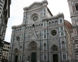 Beautiful sights Florence, Italy, Il Duomo facade