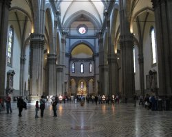 Beautiful sights Florence, Italy, Il Duomo interior view