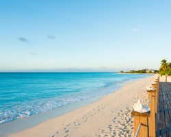 Beautiful World Beaches, Grace Bay, Turks and Caicos Islands, White sand beach view