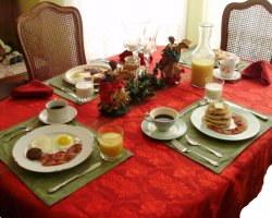 Bed and Breakfast Holiday, Beckley, West Virginia, USA, Manor breakfast