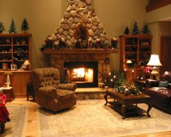 Bed and Breakfast Holiday, Minnesota, USA, Christmas ready room