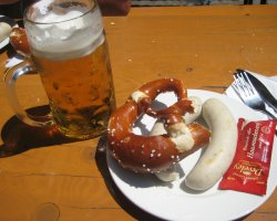 Beer Drinkers Destination, Munich, Germany, Local breakfast