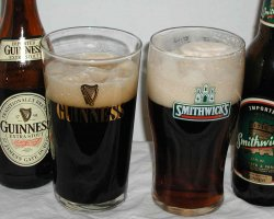 Beer Drinkers Destination, Dublin, Ireland, Guinness and Smithwicks