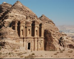 Beloved World Cities, Petra, Jordan, Entrance panorama view