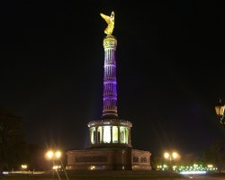 Berlin, Germany, Victory column during the Festival of Lights
