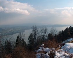 Biel, Switzerland, Top view of the Lake Biel