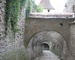 Biertan, Romania, Fortress narrow streets